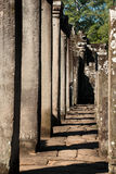 Column. Angkor Thom, located in present day Cambodia, was the last and most enduring capital city of the Khmer empire. It was established in the late twelfth Stock Photos