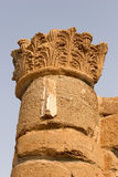 Column from an antique palace. A column on excavation of a palace of tsar of the Tyrant in Israel Stock Photos