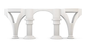Column arc isolated on white background. 3d. Royalty Free Stock Image