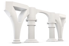 Column arc  on white background. 3d rendering. Stock Photo