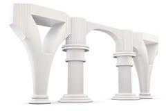 Column arc  on white background. 3d rendering. Stock Photo