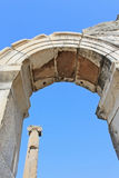 Column and arch in Ephesus Stock Image