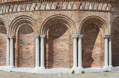 Column and arch. Luxurious wall with graceful columns and arches in Venice, Italy Royalty Free Stock Images