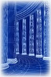 Column architecture. Vector Royalty Free Stock Images