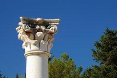 Column of the asklepion in Kos Royalty Free Stock Image