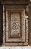 Column base from alcamo, sicily Royalty Free Stock Images