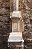 Column base from alcamo, sicily Royalty Free Stock Photography