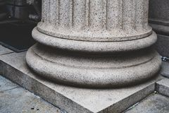 Column base in neoclassical architecture stock images