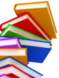 Column of books background. Stock Image