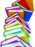 Column of books background. Stock Photo