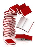 Column of books background. Stock Photography