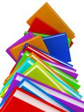 Column of books background. Royalty Free Stock Photography