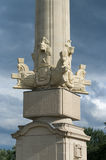 Column Bridge Charlottenburg. royalty free stock image