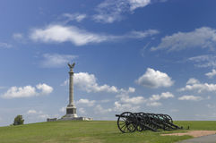 Column and Cannons Royalty Free Stock Images