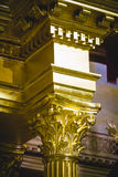 Column capitals  covered with gold leaf religion Stock Images