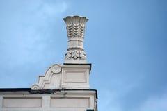 Column capitals. Novokuznetsk, Russia - July 31, 2014: column capitals. Drama Theatre in the city of Novokuznetsk, Kemerovo region, Siberia Royalty Free Stock Photos