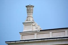 Column capitals. Novokuznetsk, Russia - July 31, 2014: column capitals. Drama Theatre in the city of Novokuznetsk, Kemerovo region, Siberia Stock Images