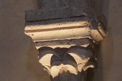 Column in the Castle of Nemours. Seine-et-marne, Ile-de-France, France Stock Image
