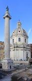 Column and Church Stock Image
