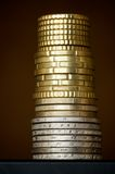 Column of coins Royalty Free Stock Images