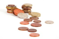 Column of coins Royalty Free Stock Image