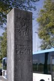 Column commemorating the 750th anniversary of Arnhem Royalty Free Stock Images