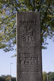 Column commemorating the 750th anniversary of Arnhem Royalty Free Stock Photography