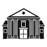 Column courthouse icon, simple style. Column courthouse icon. Simple illustration of column courthouse vector icon for web design isolated on white background royalty free illustration