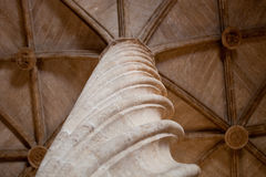 Column - decoration detail of the interior of the Old Silk Excha Royalty Free Stock Photo