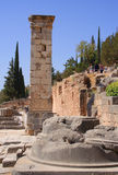 Column in Delphi,  Greece Royalty Free Stock Image