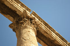 Column Detail. Detail of chapitel of a Greek column Stock Image