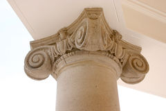 Column detailed. Details on a old column Stock Photo