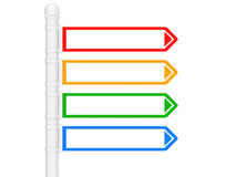 Column and directional marker Royalty Free Stock Image