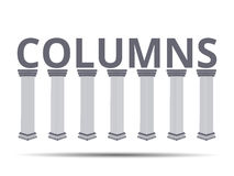 Column. Doric, Roman style. Set of columns. Vector illustration. Set in a Roman style columns Royalty Free Stock Image