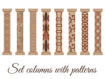 Column. Doric, Roman style. Set of columns. Stock Photo