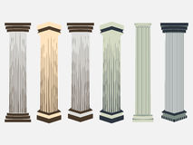 Column. Doric, Roman style. Set of columns. Vector illustration. Royalty Free Stock Image