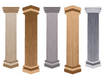 Column. Doric, Roman style. Set of columns. Vector illustration. Column. Doric, Roman style. Set of columns. Historical monument. Vector illustration Royalty Free Stock Photo