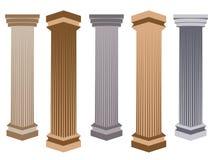 Column. Doric, Roman style. Set of columns. Vector illustration. Royalty Free Stock Photo