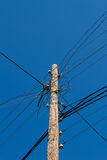 Column with electric wires Stock Image