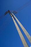 Column electrical [tower]. Two day sky Royalty Free Stock Photos