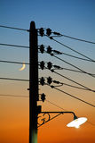 Column of electricity Stock Photography