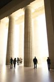 Column entranceway with people Stock Photography