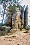 Column Feathers. Russian reserve Stolby Nature Sanctuary. Near Krasnoyarsk royalty free stock photography