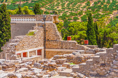 Column gallery of Knossos Royalty Free Stock Image
