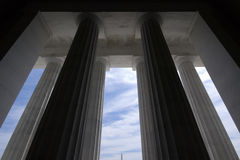 Column Geometries. At Lincoln Memorial with blue sky - Washington DC 2007 Stock Images
