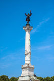 Column of the Girondins memorial in Bordeaux Royalty Free Stock Photo