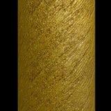 Column gold metallic spiral strips texture stock image