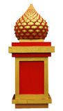 Column golden lotus flower Royalty Free Stock Photography
