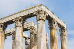 Column of greek antient temple Royalty Free Stock Images