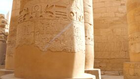 Column Hall With Hieroglyphics